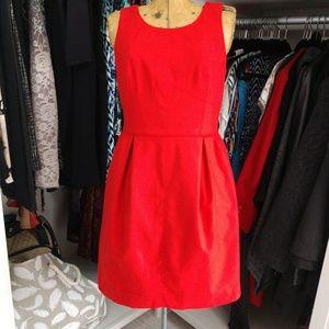 J. Crew Sleeveless Dress with Pleated Skirt